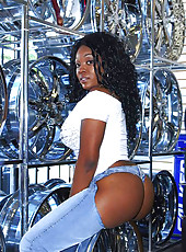 Check out this amazing hot ass black babe get fucked hard in a car store behind the counter hot reality fuck  pics
