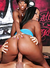 2 amazing big round black asses get pounded hard againt the graffiti wall in these hot fucking pics