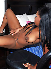 Stacked black babe gets pussy fucked hard in these hot fucking cumfaced big pics