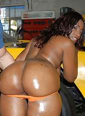 Super sexy round and brown loves chocolate covered cocks