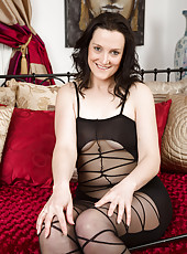 37 year old brunette Emily Marsha making her lingerie look fantastic