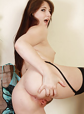 Petite 30 year old Paige spreads her tight ass and tidy little pussy