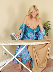 Crystal Jewels takes a brake from the ironing board to play for us