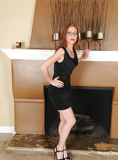 Beautiful Betty Blaze from AllOver30 flaunting her tight mature body