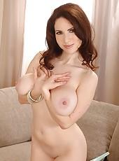 Busty Karina Heart Licks Her Nips