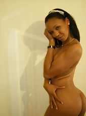 Selection of black girlfriends posing for their horny lovers