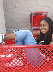 Ebony posing like a slut on cam