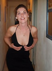 Pics of an amateur housewife posing slutty for her husband