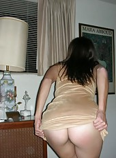 Collection of a slutty MILF spreading her legs for her hubby