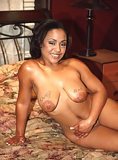 Inked up black ghetto gal putting out for her boyfriend