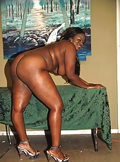Fat black girl jiggling like jello in hardcore action