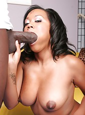 Cute Black Slut Reamed By Huge Cock