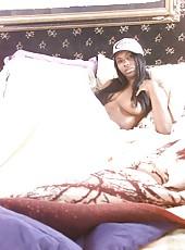 Ebony tomboy shows that she has a feminine side