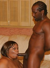 Black BBW Choclick Grinds On Stiff Prick