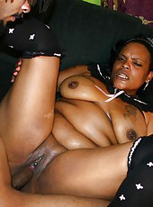 Heavy Ebony Ho Fucked Hard By Big Cock