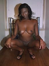 Ebony skank riding a dick like a pogo stick