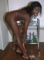 Big booty black babe getting fucked on a couch