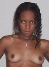 Naughty horny ebony coed stripping and fingering her cunt