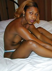 Pictures of a skanky black amateur bitch posing kinky