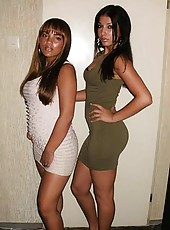 Photo set of tight-assed black sexy sistahs