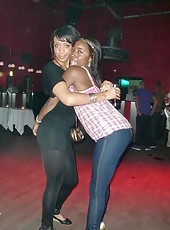 Ebony club girls having fun in the club
