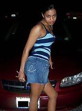 Sexy Ebony GF posing like a slut on cam