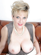 Busty nylons mature