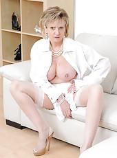 White stockings milf