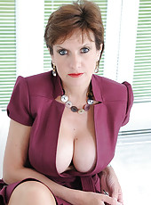 Cleavage and nylons