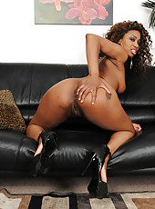 31 year old ebony MILF Jade Nicole putting on an exotic striptease