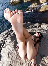 Elicia not only loves to have hairy pussy fun, but she is also showing the love today with her special friend.  These two lovely ladies are super hot and pretty playing near the water.