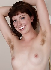 Sutlry Serena loves to touch her hairy body. As she rubs herself from her hairy armpits to her hairy legs, she relishes every moment her fingers touch her own furry body in this hairy porn.