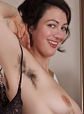 Sexy hairy girl Sadie Lune is checking herself out in the mirror for her big night out. She is so smoking that she can