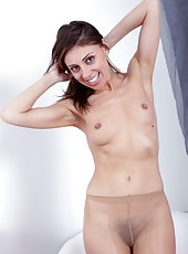 Who need panties when you are ready for sex? For Chloe R panties are optional over her hairy mound which she keeps nice and moist and open just in case the moment presents itself for hairy fun.