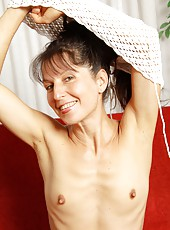 Gorgeous mature Carmen is back and wants to show you her hot body once more. She takes off her shorts and waves her slender hairy ass in the air!
