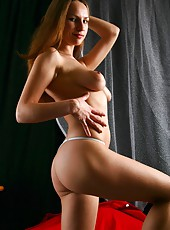 Curvy Irina S loves to get naked. As soon as the lights dim, she doesn
