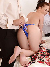 Newcomer Takes Two Cocks In Her Ass