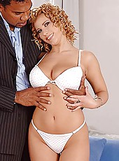 Luba takes a black cock in her ass
