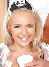 Britney Spring sucking a big cock
