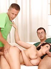 Nurse Gianna enjoys two hard dicks