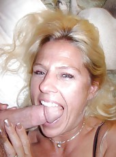 MILF loves teasing her husband and sucking on his boner