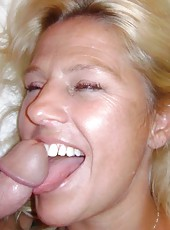 MILF loves teasing her husband and sucking on his boner