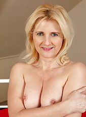 Horny and 50 year old Jennyfer B from AllOver30 looking great in lace