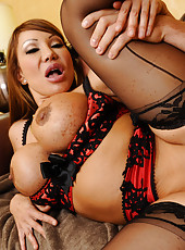 Busty cougar Ava Devine keeps one younger guy around so she can fuck him and get her fix.