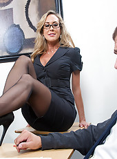 Brandi Love comes to life in students dream and she fucks him right in her classroom.