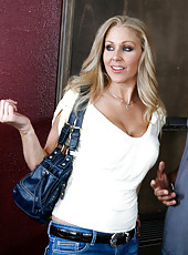 Julia Ann is pissed at her step son so she kicks him out so she can fuck his friend.