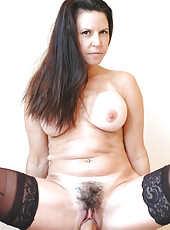 Hot brunette MILF gets fucked by her sons friend and his big cock.