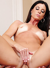 India Summer is horny but the only guy around is a big cocked husband of her best friend, so she fucks him anyway.