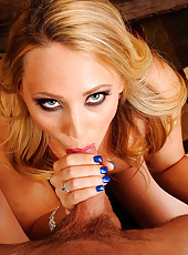 Hot housewife AJ Applegate did some shopping while her husband was out and she just can