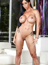 Sexy Jewels Jade exposes her big tits, pretty little pussy, hard ass and big clit.